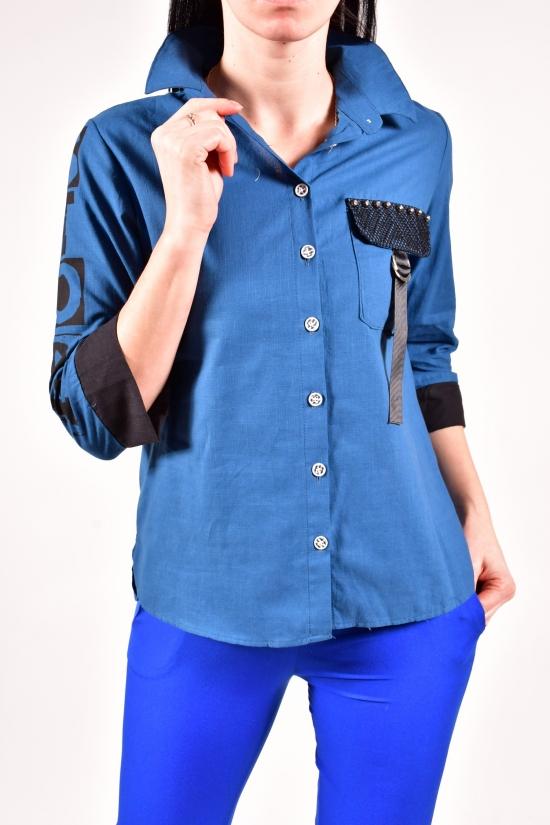 Рубашка женская (цв.синий) Размеры в наличии : 42,44,46,48 арт.15943
