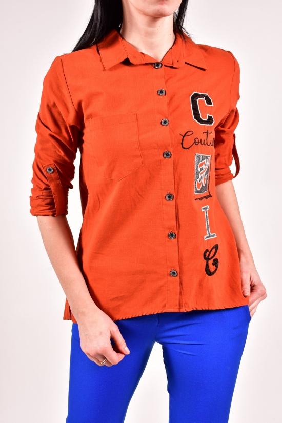 Рубашка женская (цв.терракотовый) Burrasca Размеры в наличии : 42,44,46,48 арт.15941
