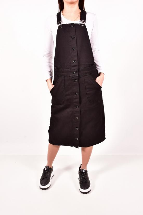 Сарафан джинсовый женский (цв.черный) Размеры в наличии : 42, 44, 46, 48 арт.2233