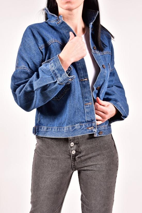Пиджак джинсовый женский (цв. R02) Размеры в наличии : 42, 44, 46 арт.5016