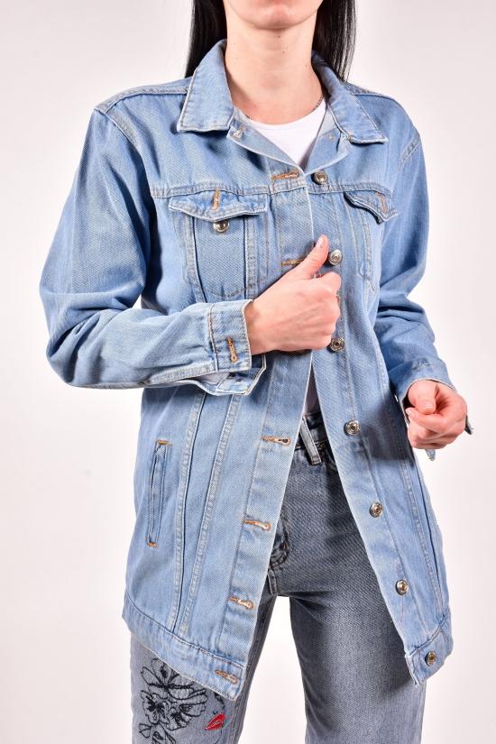 Пиджак джинсовый женский (цв. R01) Размеры в наличии : 42,44,46,48 арт.5008