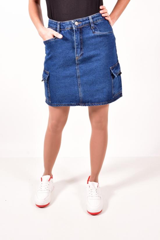 Юбка джинсовая женская (цв.т.синий) Размеры в наличии : 40,42,44,46 арт.A2052