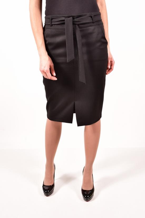 Юбка женская с поясом (цв.чёрный) Saffet Размеры в наличии : 44, 48 арт.256