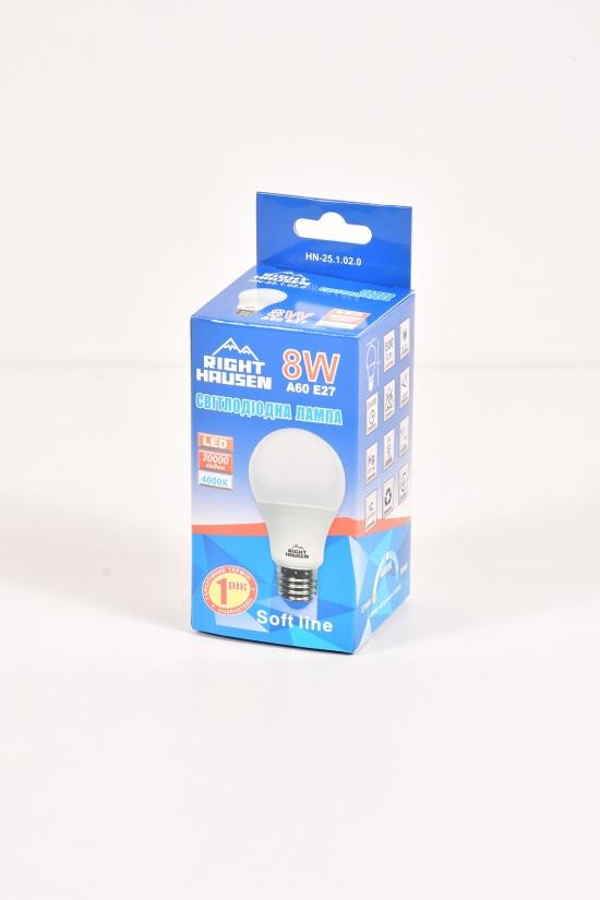 Лампа RIGHT HAUSEN LED (8W E27 4000K) арт.HN-251020