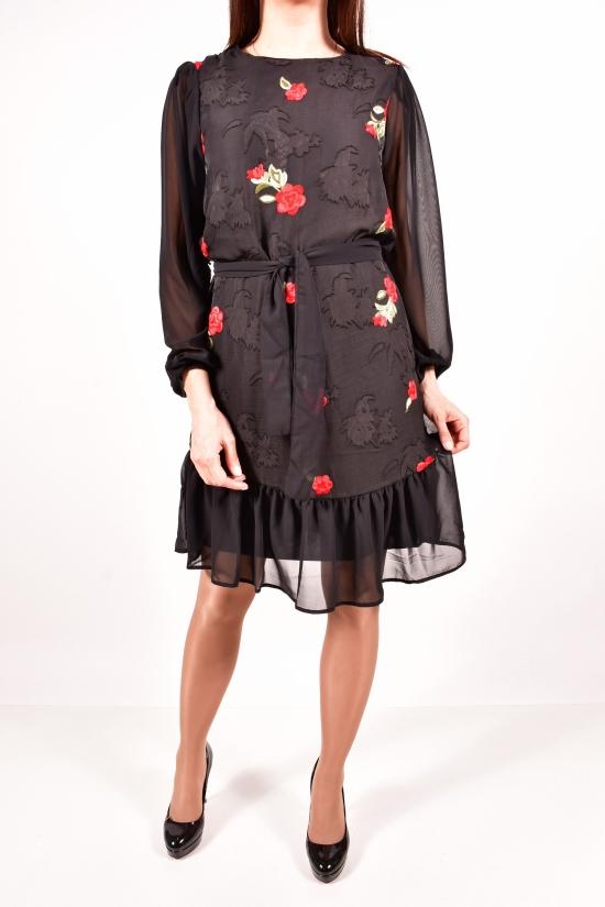 Платье женское шифоновое (цв.черный) LIGHTHER Размеры в наличии : 40,42,44,46 арт.1322