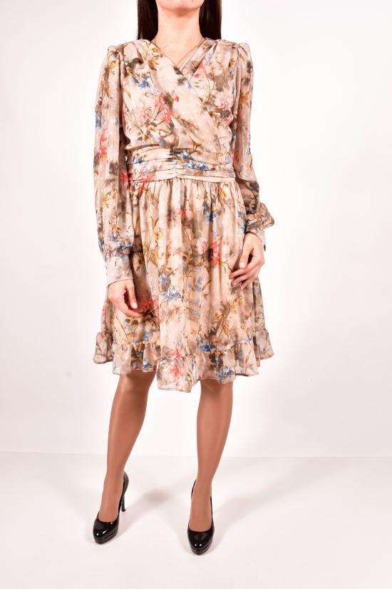 Платье женское шифоновое (цв.капучино) LIGHTHER Размеры в наличии : 42,44,46,48 арт.1360