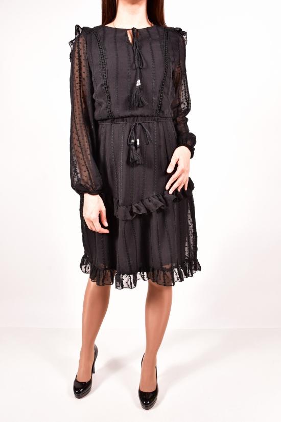 Платье женское шифоновое (цв.черный) LIGHTHER Размеры в наличии : 42,44,46,48 арт.1355