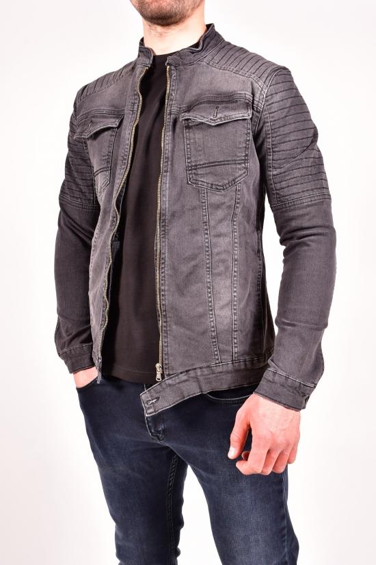 """Пиджак джинсовый мужской (цв.т.серый) """"FOURTY FOUR"""" Размеры в наличии : 42,44 арт.3021"""