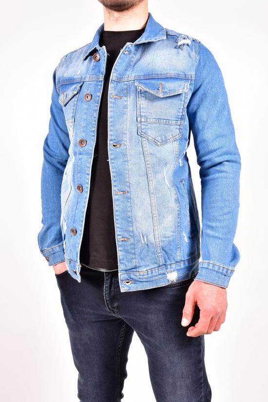 """Пиджак джинсовый мужской (цв.синий) """"FOURTY FOUR"""" Размеры в наличии : 44,50 арт.3014"""