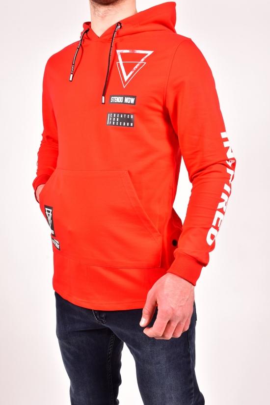 Батник мужской трикотажный  (цв.красный) STENDO Размеры в наличии : 46,48,50,52 арт.S20-2577