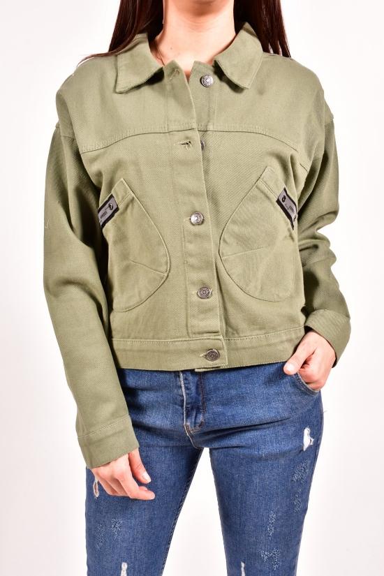 Пиджак джинсовый женский (цв.хаки) ASIST Размеры в наличии : 44,46 арт.1021
