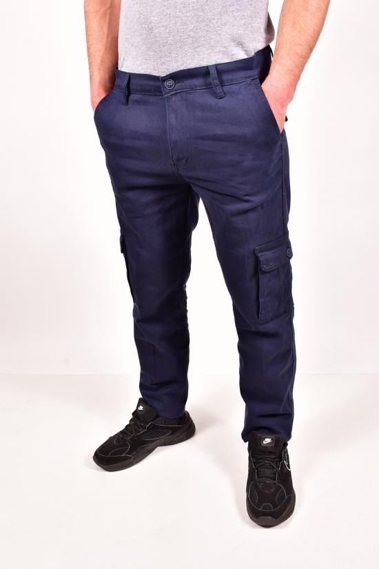 Брюки мужские стрейчевые (цв.т.синий) Big Stac Размеры в наличии : 32,33,34,35,38 арт.1771