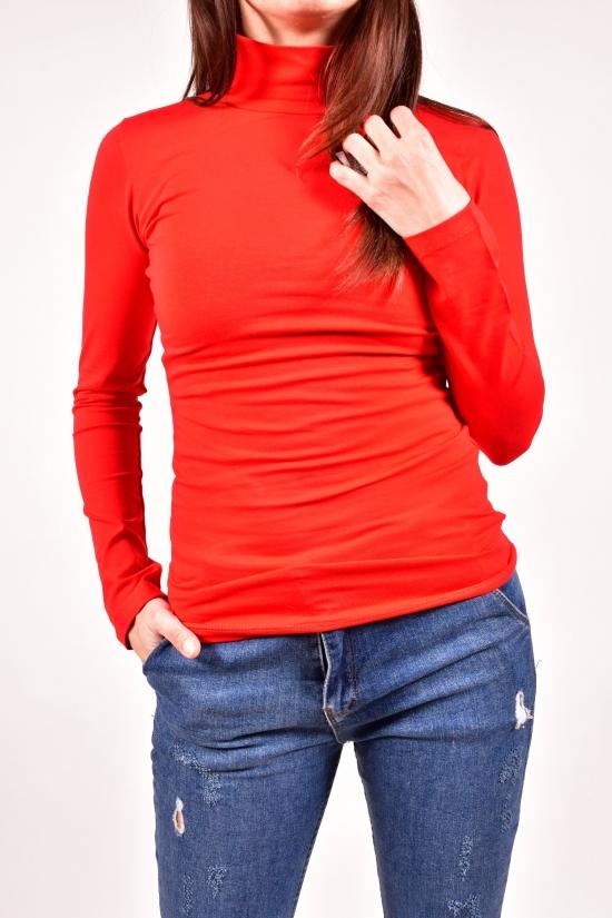 """Гольф женский трикотажный (цв.красный) """"COTTON ANGEL"""" Размеры в наличии : 40,42,44,46,48 арт.1009"""