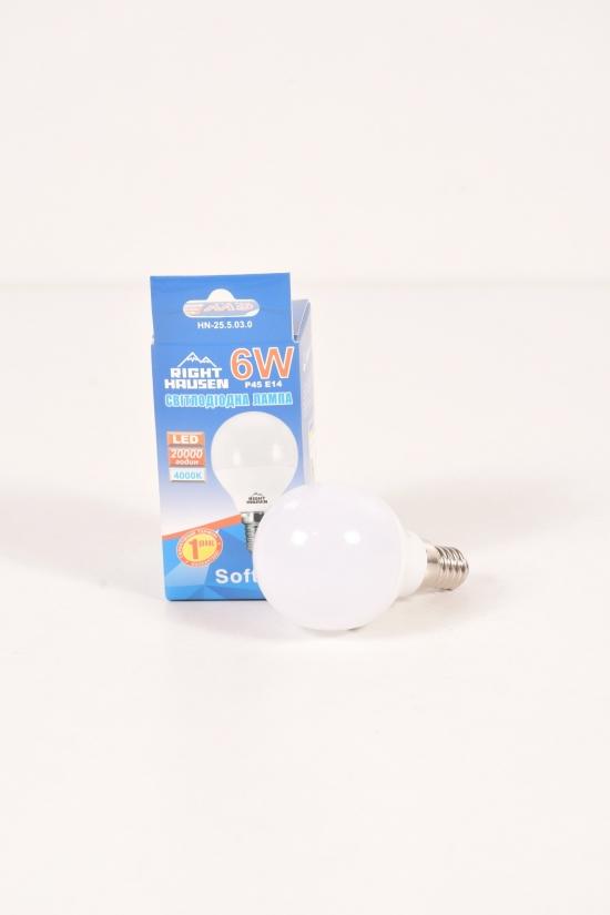 Лампа RIGHT HAUSEN LED (6W E14 4000K) арт.HN-255030