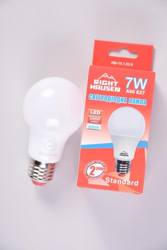 Лампа RIGHT HAUSEN LED (7W E27 4000K A60) арт.HN-151030