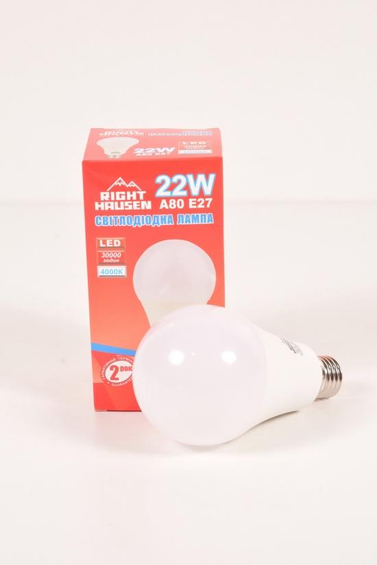 Лампа RIGHT HAUSEN LED (22W E27 4000K A80) арт.HN-151110N