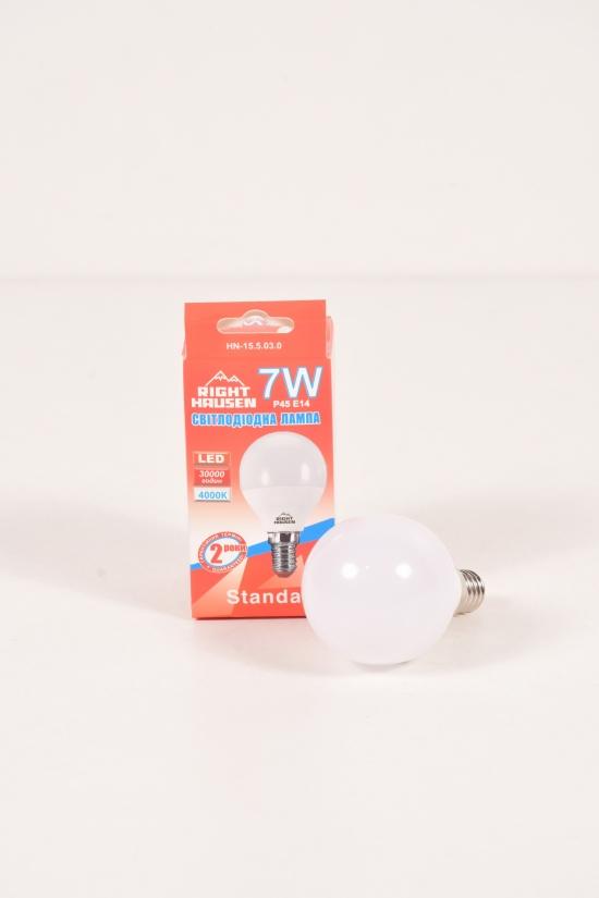 Лампа RIGHT HAUSEN LED (7W E14 4000K G45) арт.HN-155030