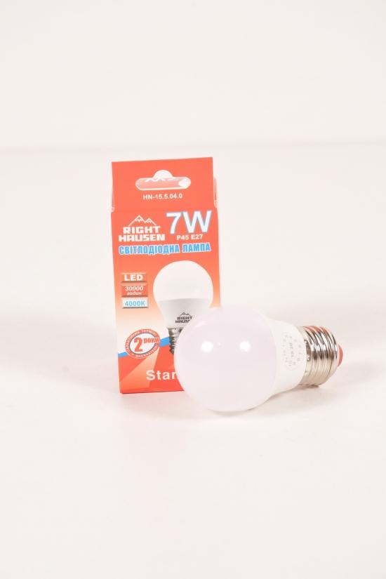 Лампа RIGHT HAUSEN LED (7W E27 4000K G45) арт.HN-155040