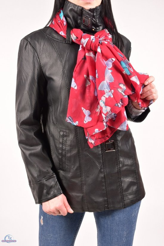 Куртка женская из кожзаменителя + шарф Размеры в наличии : 48,50,52,54,56,58 арт.858-1