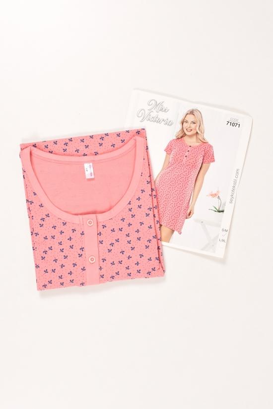 Ночная рубашка женская трикотажная Miss Victoria Размер в наличии : 42 арт.71071