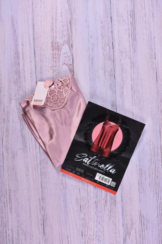 Комплект атласный (цв.фиолетовый) майка тонкая бретель+шорты DEEP Sleep размер 42-44 арт.12013