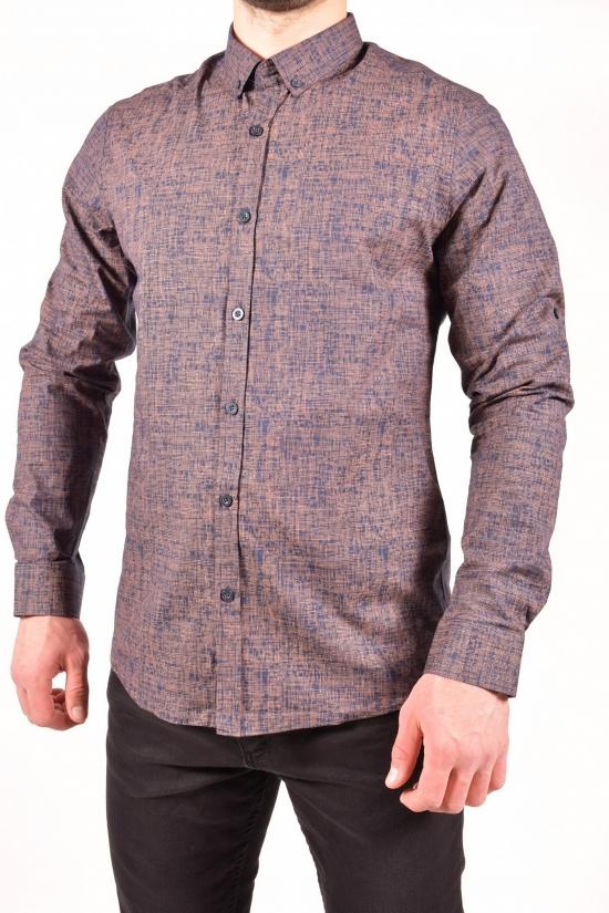 Рубашка мужская (цв.коричневый) TOMMY LIFE Размеры в наличии : 44,46,48,50,52 арт.T08ER-87859-01