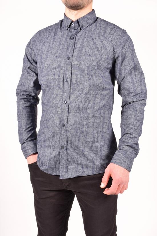 Рубашка мужская (цв.синий/серый) TOMMY LIFE Размеры в наличии : 44,46,48,50 арт.T08ER-87861-01