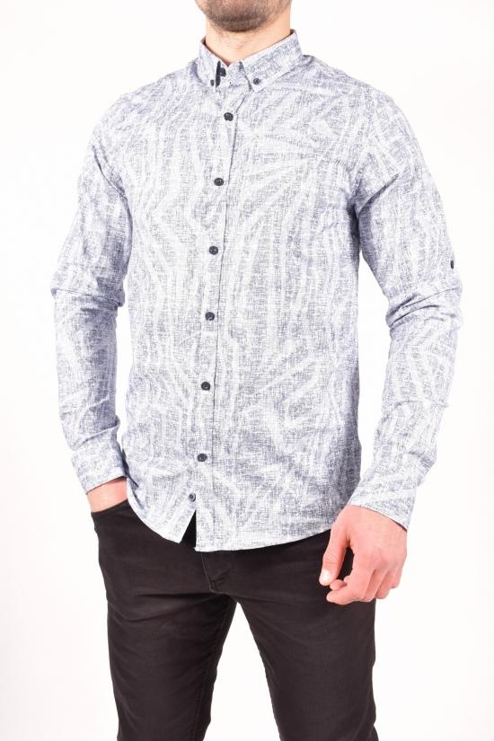 Рубашка мужская (цв.белый/синий) TOMMY LIFE Размеры в наличии : 46,48,50,52 арт.T08ER-87861-01