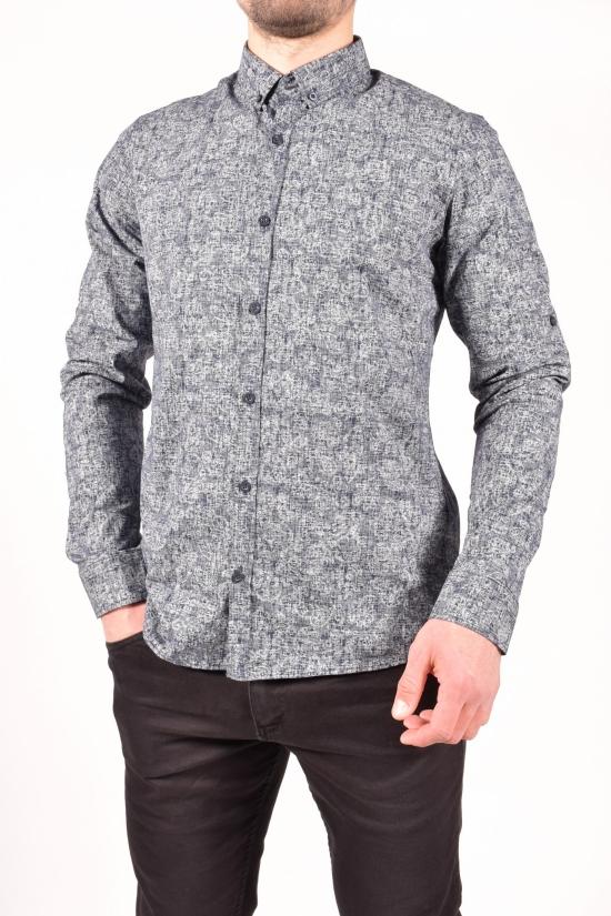 Рубашка мужская (цв.серый/синий) TOMMY LIFE Размеры в наличии : 44,46,48,50,52 арт.T08ER-87857-01