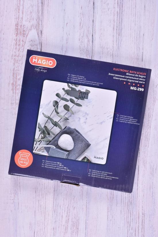 Весы электронные до 180кг,стекло,РК-дисплей арт.MG-299