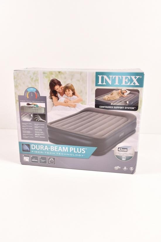Кровать велюровая со встроенным насосом 220-240В. (размер в коробке 152/203/42см.) арт.64136