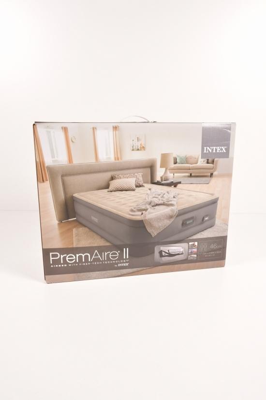 Кровать велюровая PremAire I со встроенным насосом (размер в коробке 152/203/46см.) арт.64926