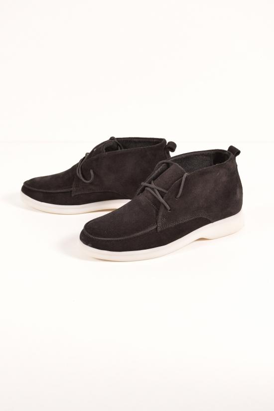 Ботинки женские (цв.черный) из натуральной замши GOT&TO Размеры в наличии : 36, 37, 38, 39, 40, 41 арт.20-6026