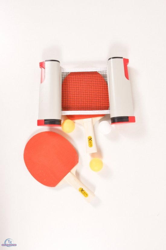 Набор для настольного тенниса (2 ракетки 3 мячика ABS с сеткой в чехле) толщина 7 мм арт.TT2136