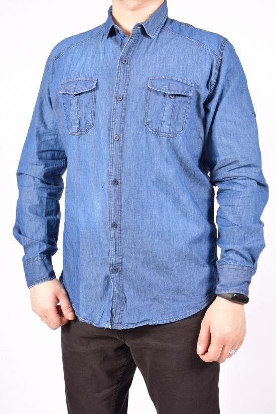 Рубашка мужская (цв.синий)  ZRMN (юниор) Размеры в наличии : 40,42,44,46,48 арт.544