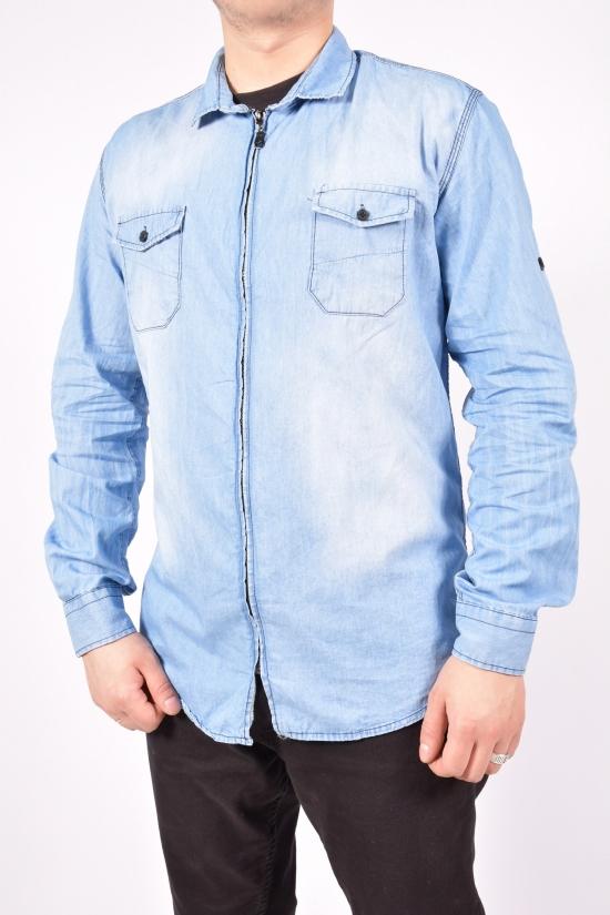 Рубашка мужская (цв.голубой)  ZRMN (юниор) Размеры в наличии : 40,42,44,46,48 арт.544