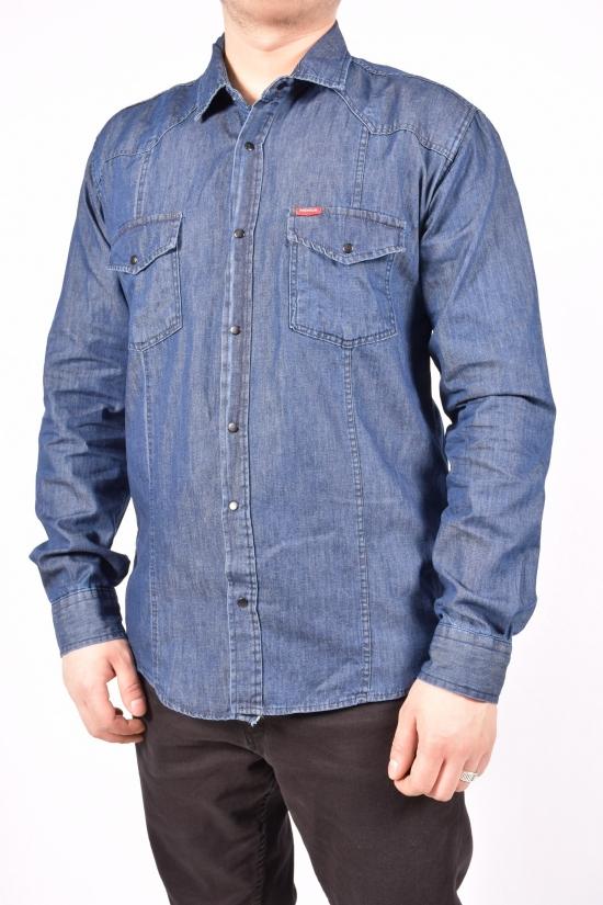 Рубашка мужская (цв.т.синий) PREMIUM Размеры в наличии : 44,46,50,52 арт.0632