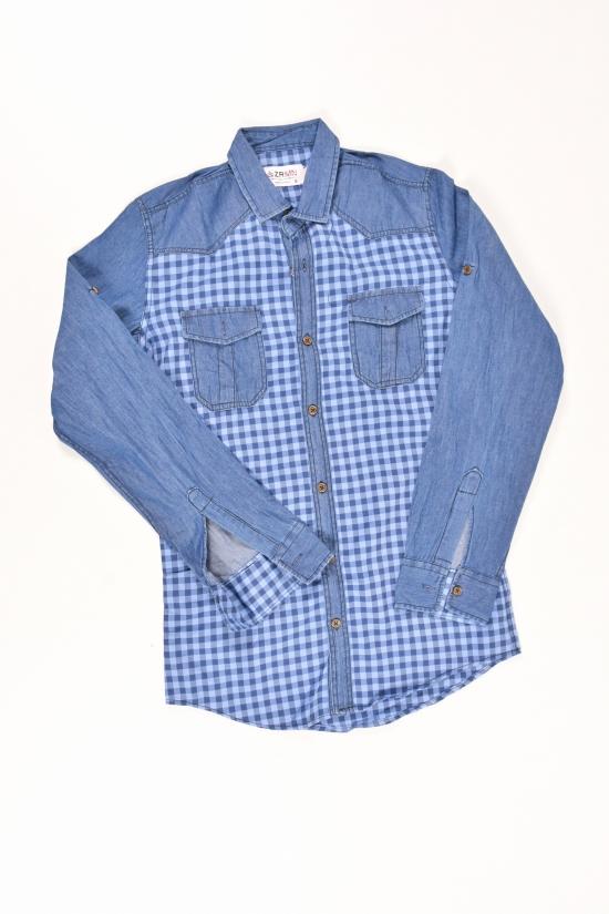 Рубашка для мальчика  (цв.синий) ZRMN Роста в наличии : 152,158,164,170,176 арт.566