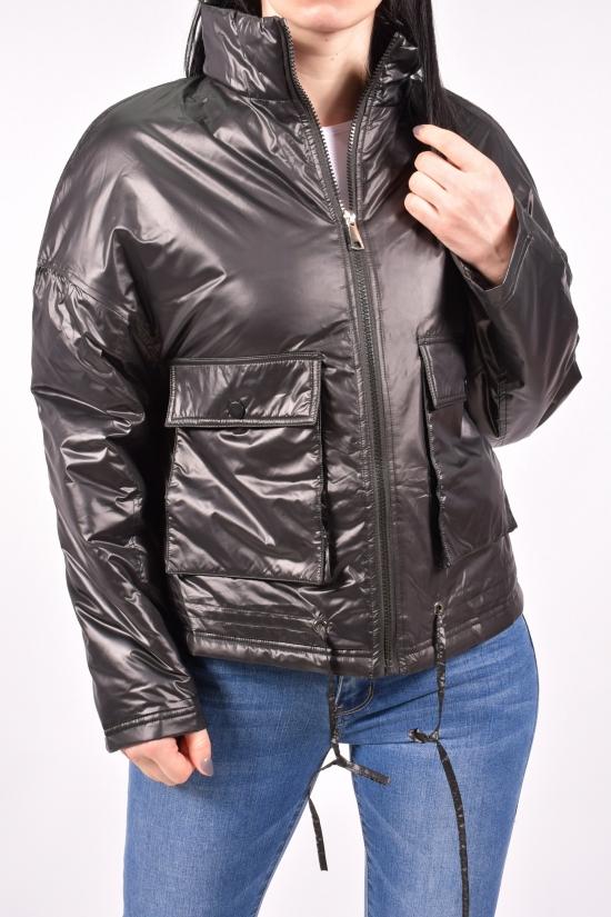 """Куртка женская (цв.черный) демисезонная """"SYJ"""" Размеры в наличии : 44, 46, 48, 50 арт.A775"""