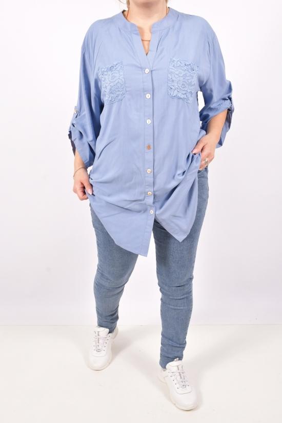 Блузка женская  ( цв.синий) Qianzhidu Размеры в наличии : 50,52,54,56,58 арт.C26067