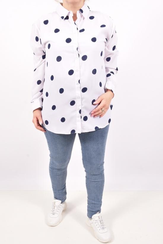Рубашка женская  ( цв.белый) Qianzhidu Размеры в наличии : 50,52,54,56,58 арт.23006