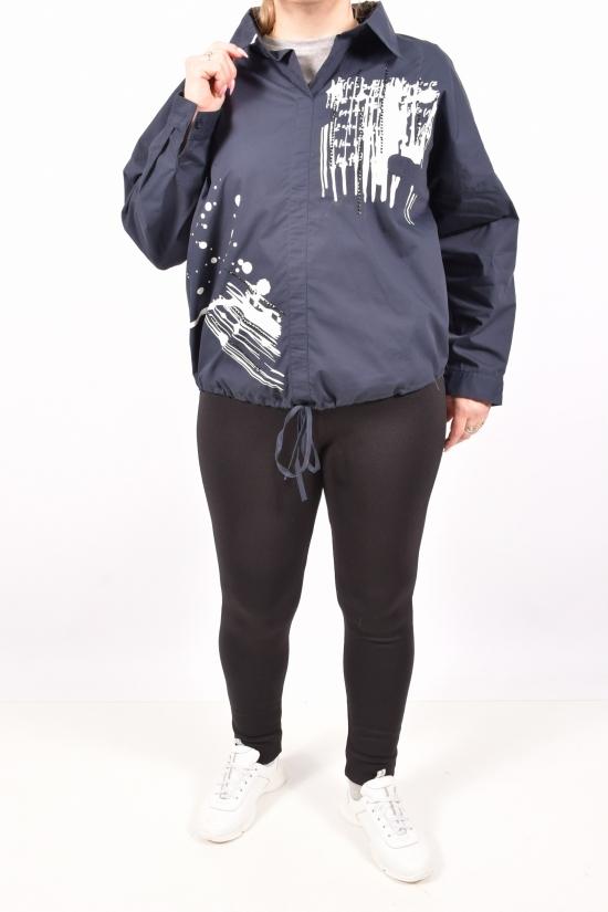Блузка женская  (цв.т.синий) ANGORA Размеры в наличии : 48,50,52,54 арт.3064