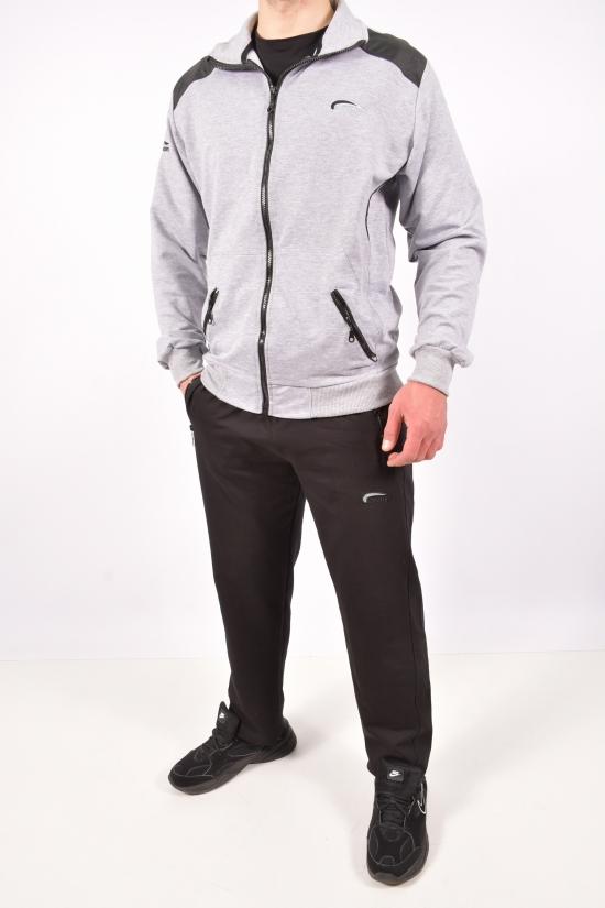 Костюм спортивный мужской (цв.св/серый) трикотажный Cramp Размеры в наличии : 44,46,48,50 арт.4078