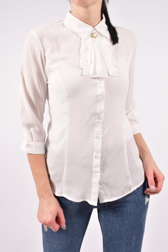 Блузка женская  ( цв.белый) Qianzhidu Размеры в наличии : 42,44,46,48,50 арт.81027