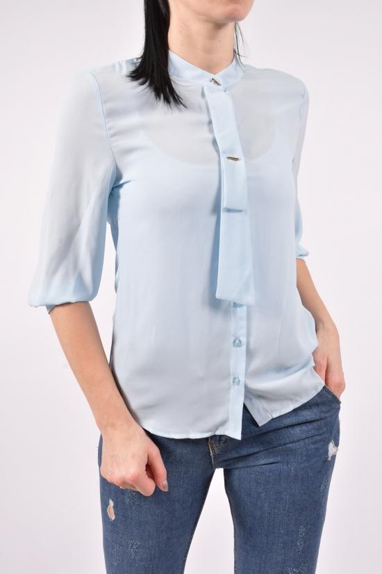 Блузка женская  ( цв.голубой) Qianzhidu Размеры в наличии : 42,44,46,48,50 арт.B81006