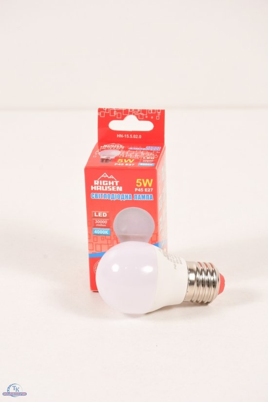 Лампа   5W E27  4000K G45 RIGHT HAUSEN арт.HN-155020