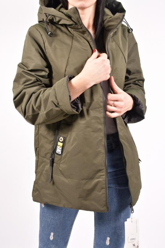 Куртка женская демисезонная (цв.хаки) D.S Размеры в наличии : 52,54 арт.20-5066