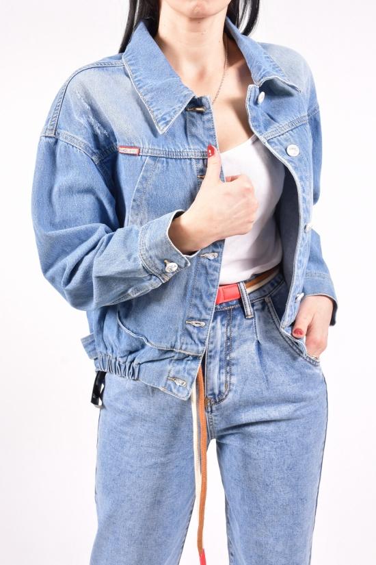 """Пиджак женский джинсовый """"ZJY"""" Размеры в наличии : 42,52 арт.Y6915"""