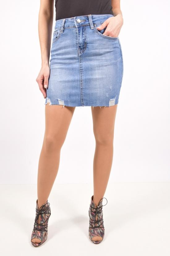Юбка джинсовая женская стрейчевая NewJeans Размеры в наличии : 25,26,27,28,29 арт.D3757