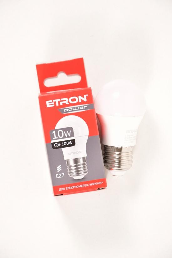 Лампа светодиодная  G45 10W 4200К 220V Е27  ETRON арт.1-ELP-842